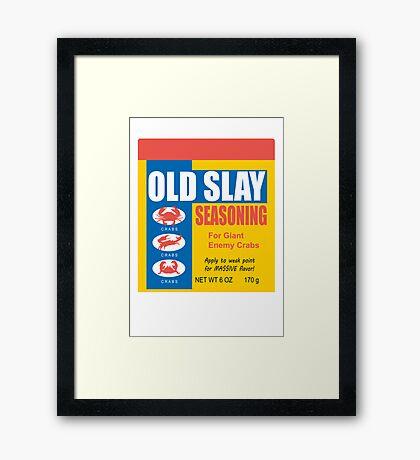 Old Slay Framed Print