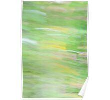 Abstract Summer Garden Photography Poster