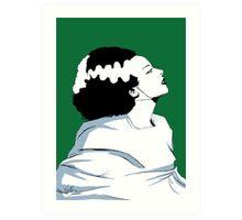 Bride Of Frankenstein, classic horror style  Art Print