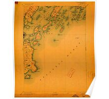 Maine USGS Historical Map Casco Bay 807435 1893 62500 Poster