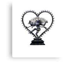 Shiva Nataraj, Lord of Dance, in love with love itself  Canvas Print