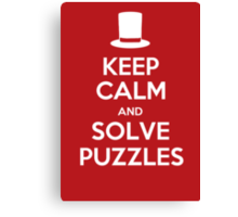 Keep Calm and Solve Puzzles Canvas Print