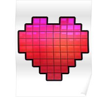 Large Pixel Heart Poster