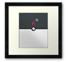 Team Rocket Ball! Framed Print