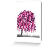 Purple Willow Greeting Card