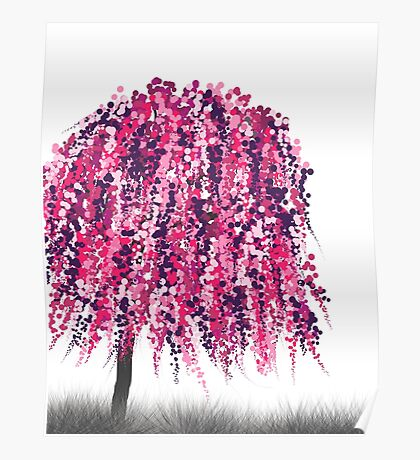 Purple Willow Poster