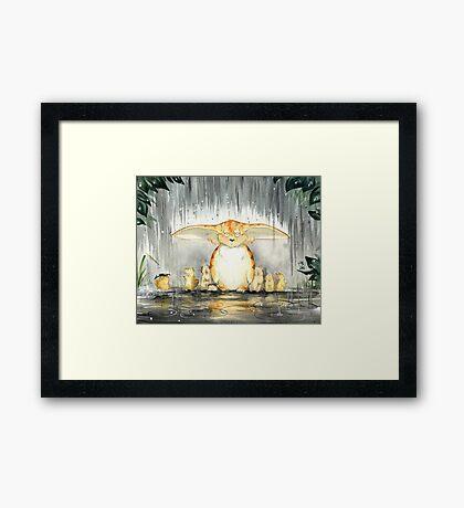 Furry Umbrella Framed Print