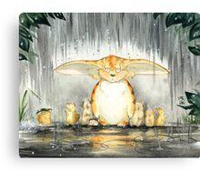 Furry Umbrella Canvas Print