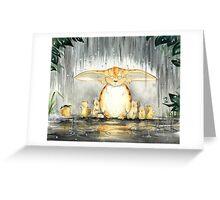 Furry Umbrella Greeting Card