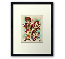The Doctor, The Warrior, and K-9 Framed Print