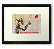 Eddie had a soft spot for his balloon .... Framed Print