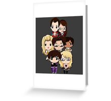 Big bang Theory cartoon people Greeting Card