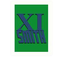 Doctor Who: XI -Smith Art Print
