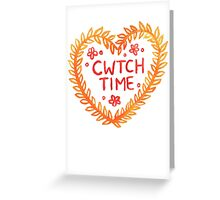 Cwtch time! Greeting Card
