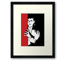 Dracula, classic horror pop art  Framed Print