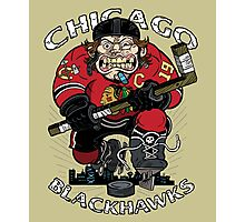 Chicago Blackhawk Skate or Die Photographic Print
