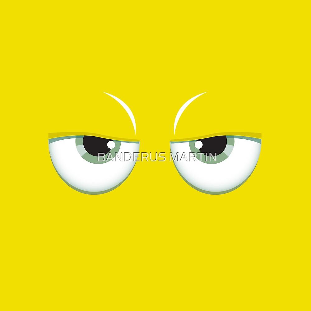 Yellow mirror by BANDERUS MARTIN