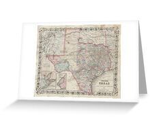 Vintage Map of Texas (1870) Greeting Card