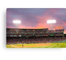 Boston Baseball Game Canvas Print