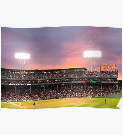 Boston Baseball Game Poster