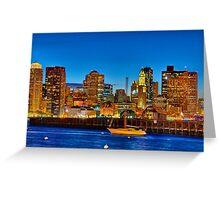 Boston skyline- Piers Park View  Greeting Card