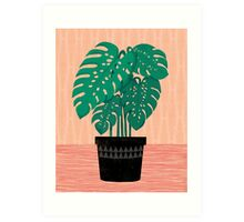 Cheese Plant - Trendy Hipster art for dorm decor, home decor, ferns, foliage, plants Art Print