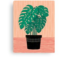 Cheese Plant - Trendy Hipster art for dorm decor, home decor, ferns, foliage, plants Canvas Print