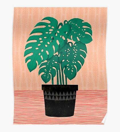 Cheese Plant - Trendy Hipster art for dorm decor, home decor, ferns, foliage, plants Poster