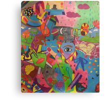 Abstract Colorful World Canvas Print