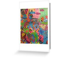 Abstract Colorful World Greeting Card