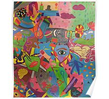 Abstract Colorful World Poster