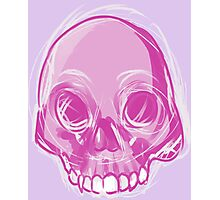 Single Pink Skull Photographic Print