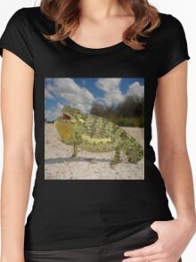 Flap-necked Chameleon - Namibia Women's Fitted Scoop T-Shirt