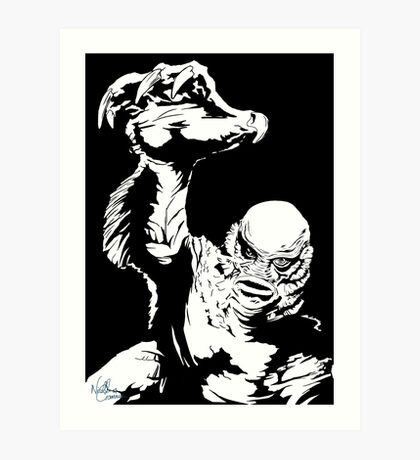 Creature from the Black Lagoon! Pop art insired Art Print