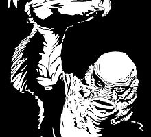 Creature from the Black Lagoon! Pop art insired by GannucciArt