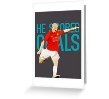 Paul Scholes - He Scores Goals Greeting Card