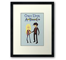 Once Upon An Adventure Time Framed Print