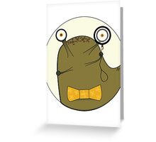 Clever Slug Greeting Card