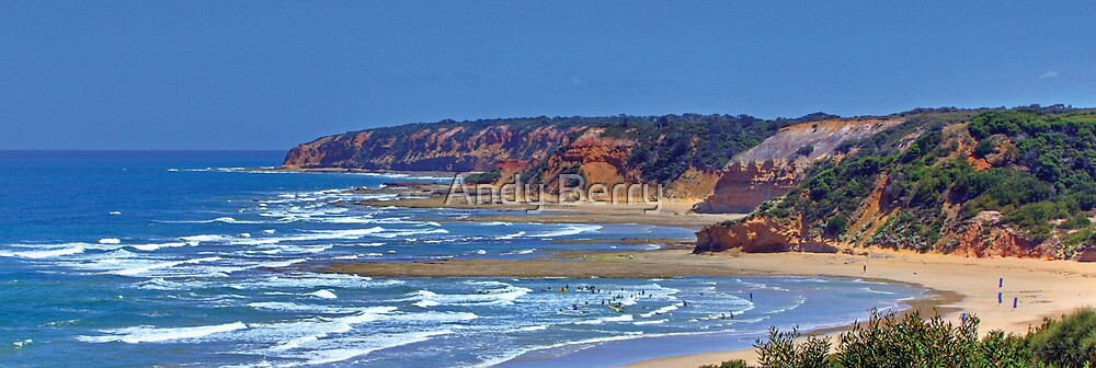 Urquhart Bluff on the Great Ocean Road by Andy Berry
