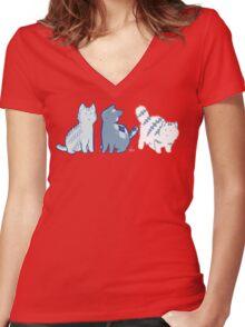 Knittens Women's Fitted V-Neck T-Shirt