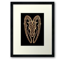 Rustic Aries Zodiac Sign on Black Framed Print
