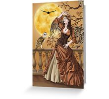 Owl Fairy Angel Masquerade Ball Greeting Card
