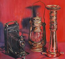 Camera, Lamp & Firehose by Sue de Vanny