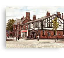Ormskirk - The Queen's Head. Canvas Print