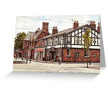 Ormskirk - The Queen's Head. Greeting Card