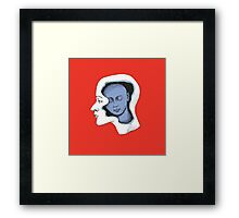 A Blue thought Framed Print