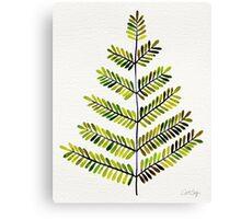 Green Leaflets Canvas Print
