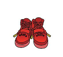 Yeezy Red October Photographic Print