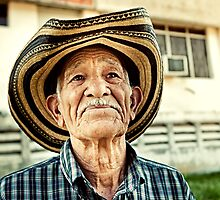 Old man in Santa Clara by Henny Boogert