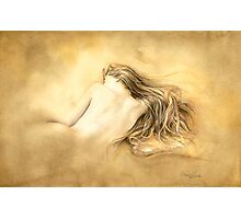 Raw Umber Nude by David Evans  Photographic Print